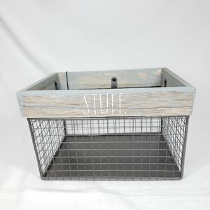 NEW Rae Dunn STUFF Wire Storage Basket